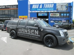 Holden Rodeo on Black Rock Type8P