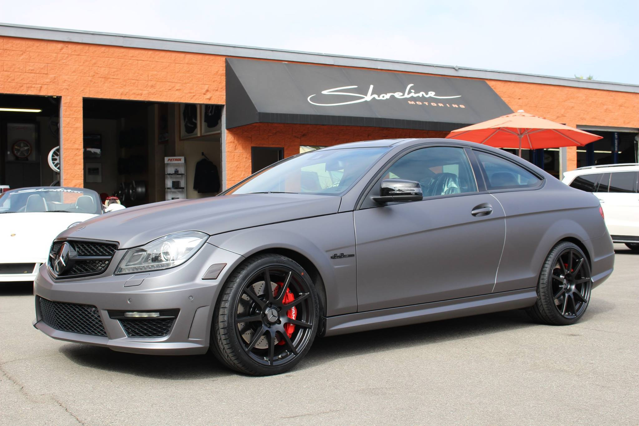 Mercedes C63 on TSW Intrlargos