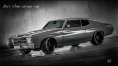 Chev Chevelle on Ridler 695 custom black