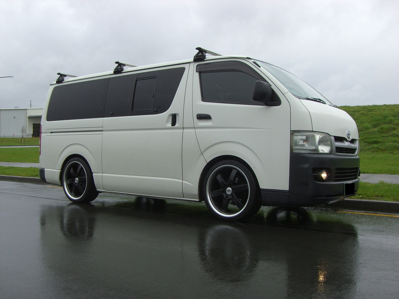 Toyota Hiace on Black Rhino Pondora
