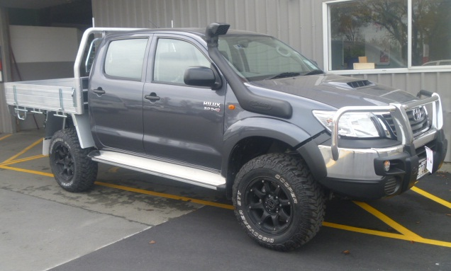 Toyota Hilux on Black Rhino Glamis