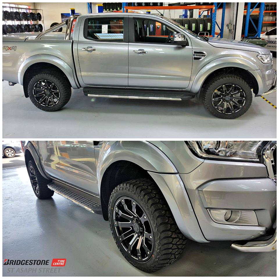 Ford Ranger on Black Rhino Selkirk & AMP AT