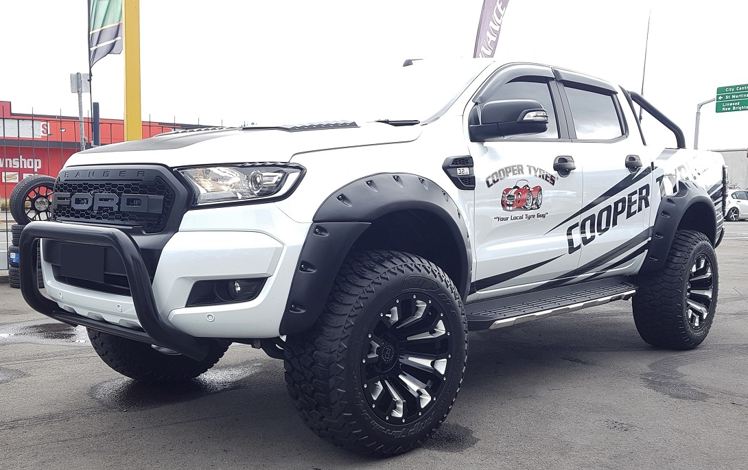 Ford Ranger on Black Rhino Pinatubo & AMP A/T