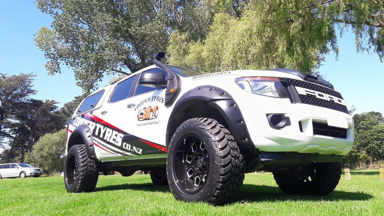 Ford Ranger on Black Rhino Predator & AMP M/T
