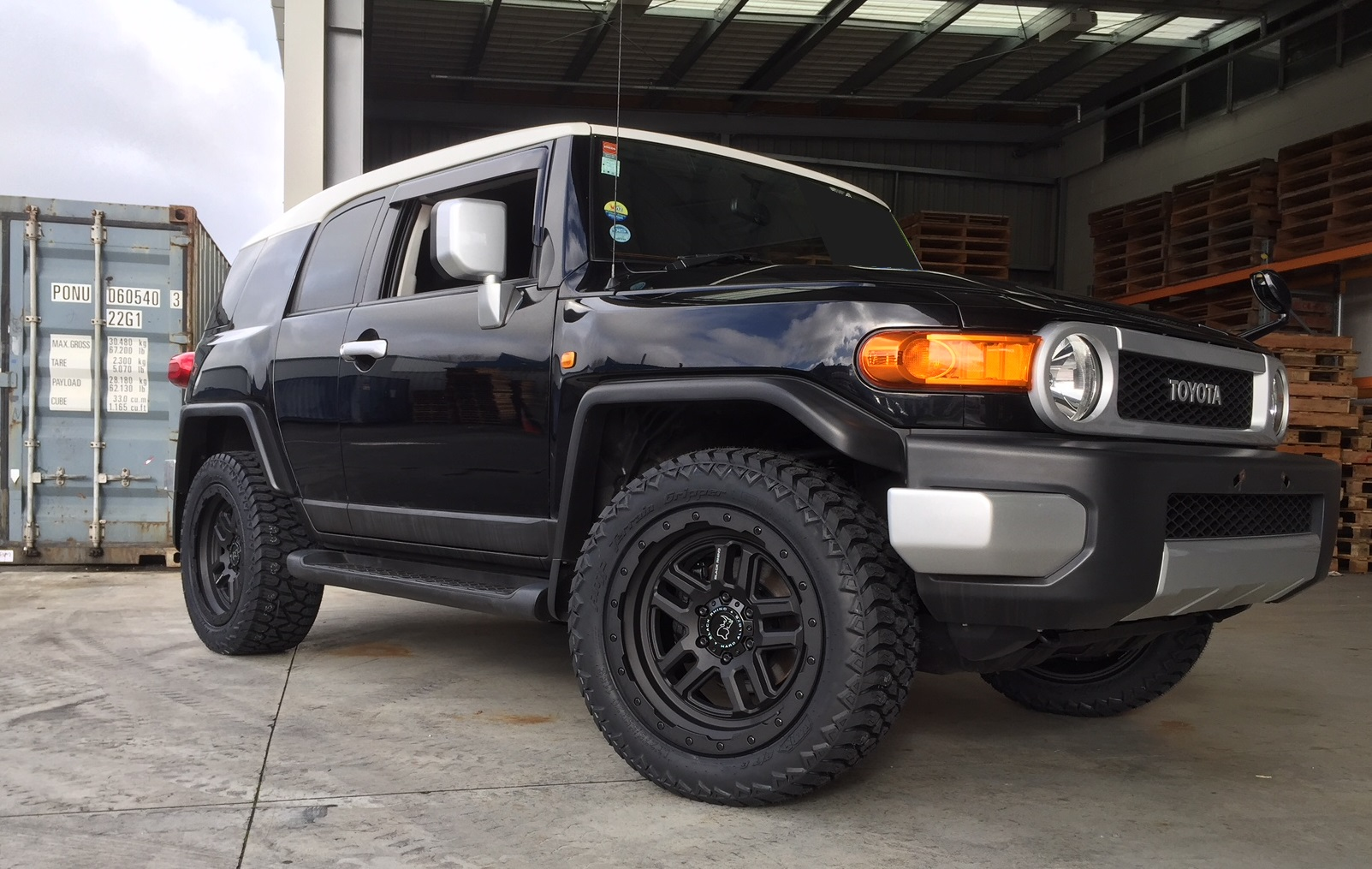 Toyota FJ on Black Rhino Barstow