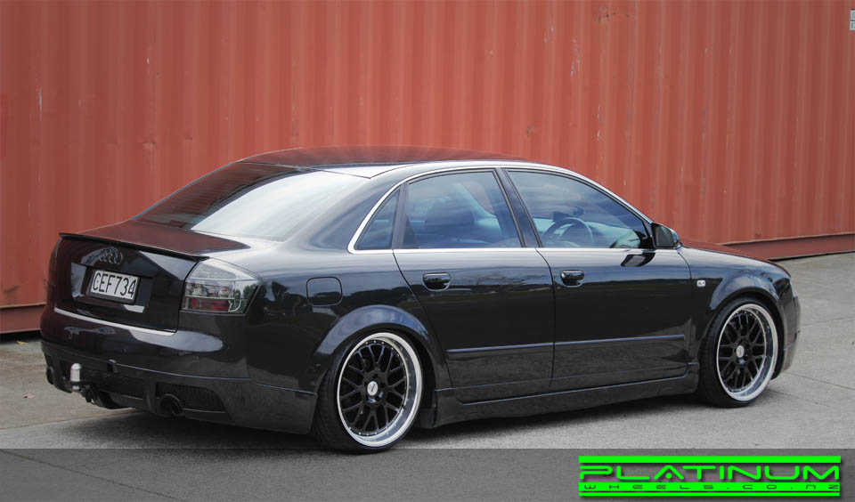 Audi A4 on TSW Valencia black machined