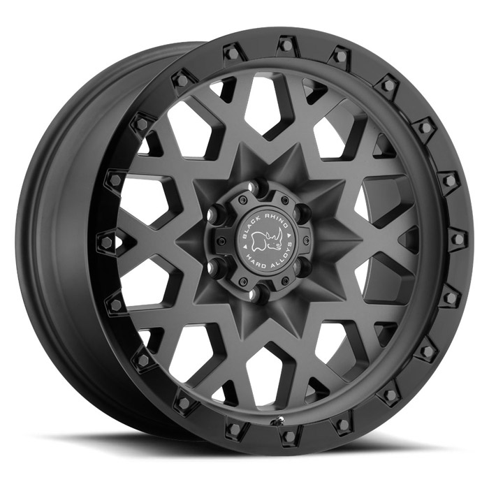 BLACK RHINO SPROCKET[Matt Gunmetal w/Black Lip Edge]