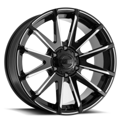 BGW Cross Fire Gloss Black wMilled Spokes and Rim