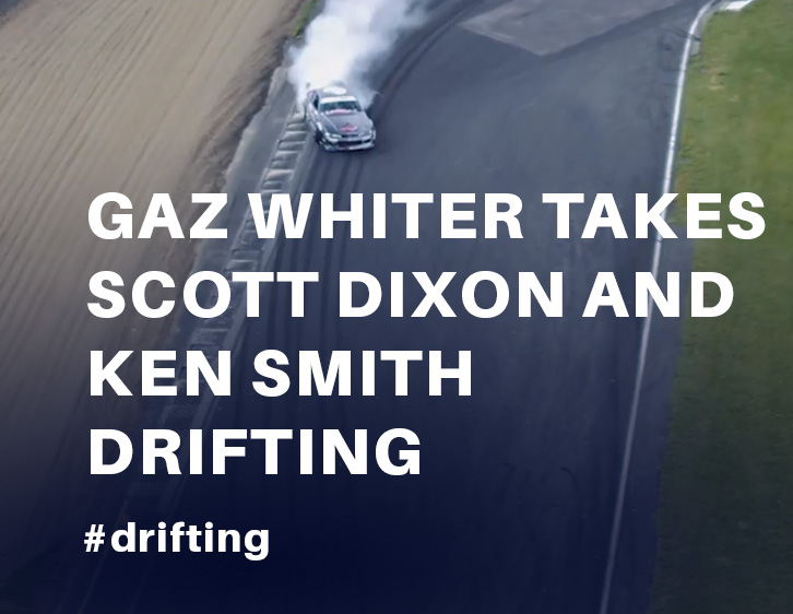 Gaz Whiter takes Scott Dixon and  Ken Smith Dirfting