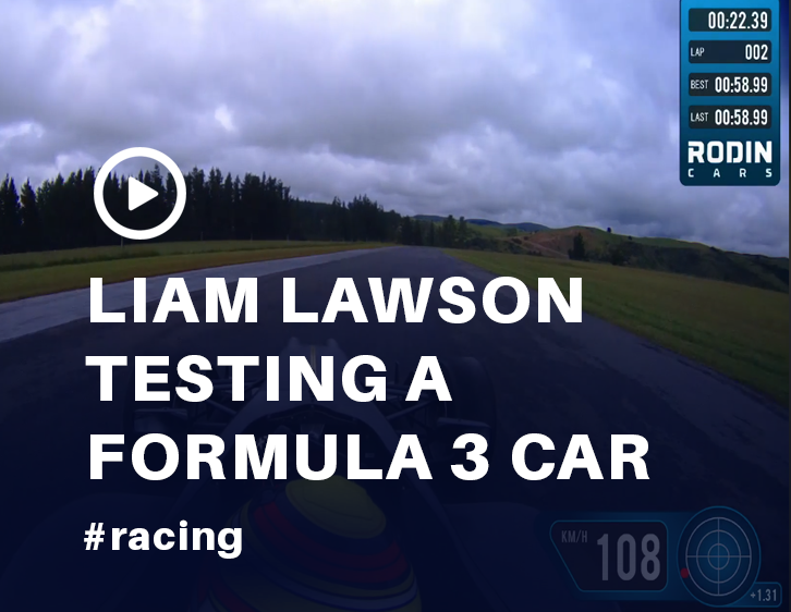 Liam Lawson Tests Formula 3 Car