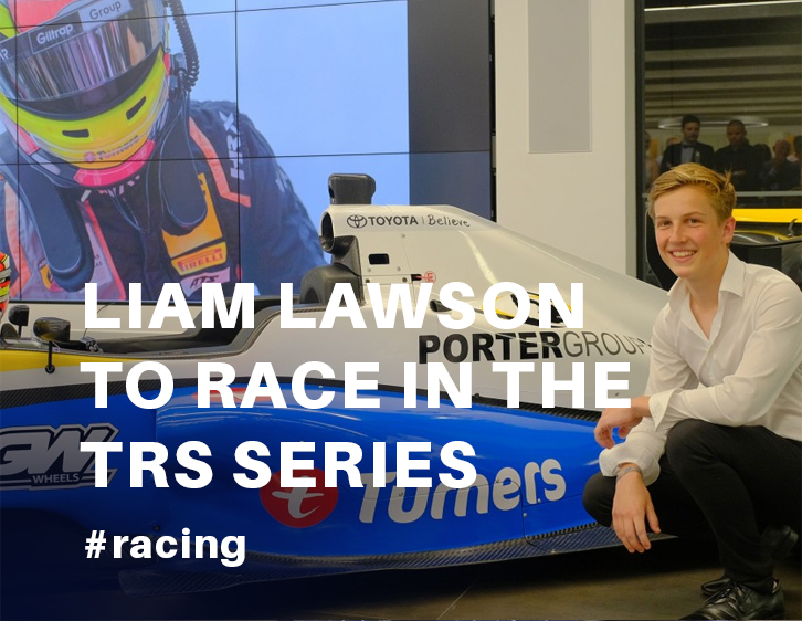 Liam Lawson competing in Toyota Racing Series