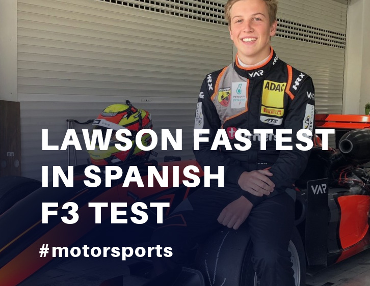 Lawson fastest in Spanish F3 test