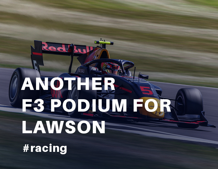 Another F3 podium for Lawson