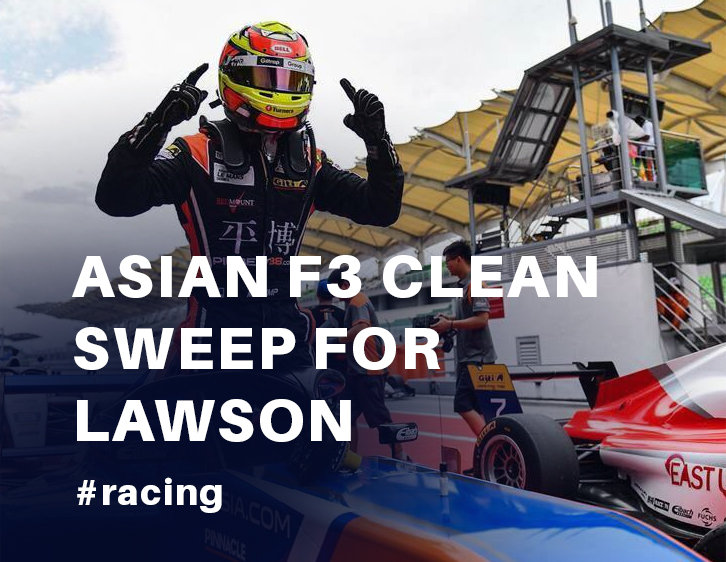 Asian F3 clean sweep for Lawson