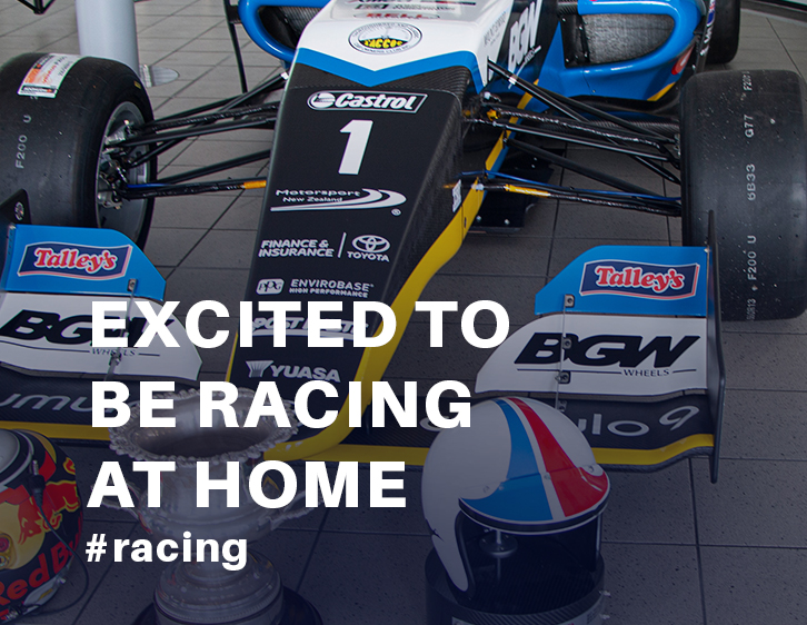 Excited to be racing at home