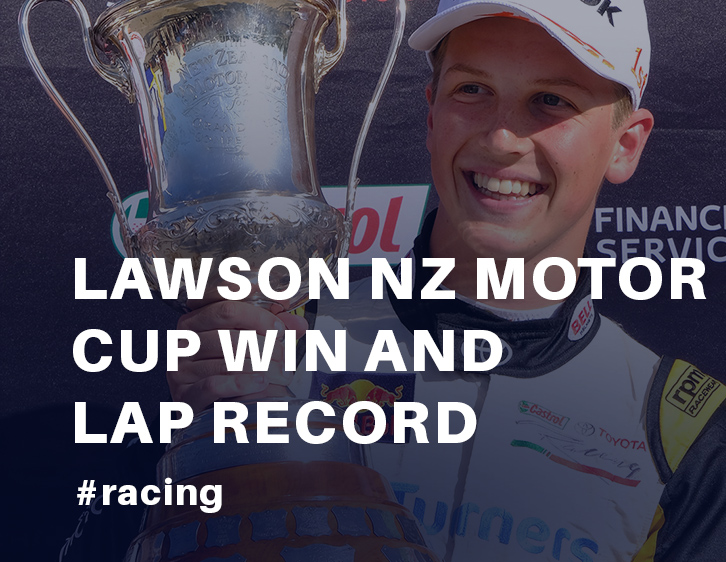 Early Birthday present for Lawson NZ Motor Cup win and lap record at Pukekohe